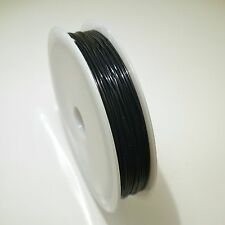 1 x 10M ROLL BLACK STRONG STRETCH ELASTIC CRYSTAL TEC THREAD CRAFT JEWELLERY