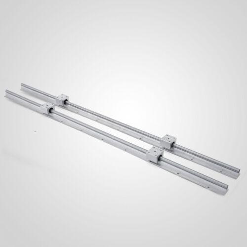 SBR12-1000mm LINEAR SLIDE GUIDE SHAFT 2 RAIL+4 SBR12LUU Bearing Block CNC set