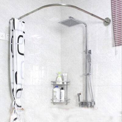 Adjustable Curved Shower Curtain Rod 17 24inch Bath Tub
