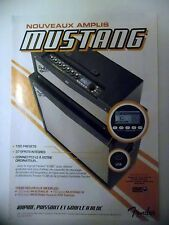 PUBLICITE-ADVERTISING :  Amplis FENDER Mustang  02/2011