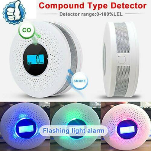 and Smoke 2in1 Combination Detector Alarm Carbon Monoxide Battery Operated CO