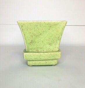 Vintage Ceramic Green Planter Vase Porcelain Flower Pot