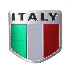 Placchetta metallo 3D emblema adesivo bandiera ITALIA auto Styling badge Sport