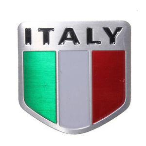 Placchetta-metallo-3D-emblema-adesivo-bandiera-ITALIA-auto-Styling-badge-Sport