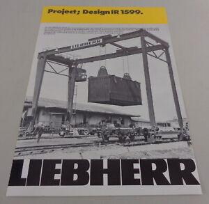 Prospectus/Brochure Liebherr Project; Design Ir 1599 From 04/1977