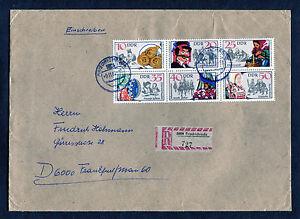 DDR-2716-2721-EF-Sechserblock-auf-R-Brief-Friedrichroda-Frankfurt