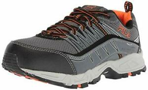 Fila-Mens-At-Peake-16-Low-Top-Lace-Castlerock-Black-Vibrant-Orange-Size-12-0-0