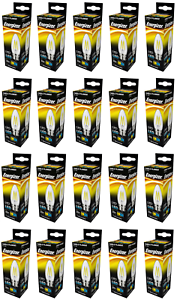 X 20 Energizer 5w (=40w) LED Clear Filament Candle Bulb, Extra Warm White - BC