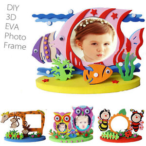 Details About 1pc Diy Eva Foam Sticker Photo Frame Creative Mess Free Decoration Kids Crafts