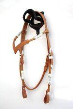 EE Tack Showkopfstück V-Stirnband aus Herman Oak Leather Western Trense