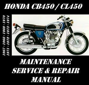 honda cb450 cl450 service manual maintenance tune up repair rebuild rh ebay com honda cb 450 shop manual pdf honda cb450 shop manual