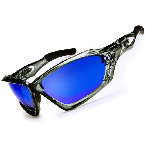 Daisan Lunettes de soleil Lunettes sport bleue vitres vollverspiegelt