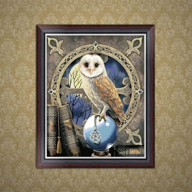 5D Diamond Embroidery Owl Painting DIY Cross Stitch Home Office Decor Craft