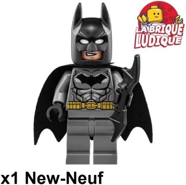Lego Figurine Minifig Super heroes Batman gris foncé cape + Batarang dim002 NEUF