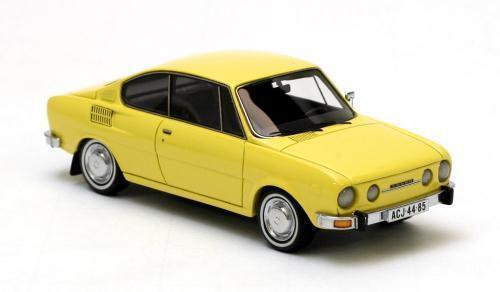 Venta en línea precio bajo descuento SKODA SKODA SKODA 110R Coupe-Amarillo 1972 Neo 44485 1 43  promociones de descuento