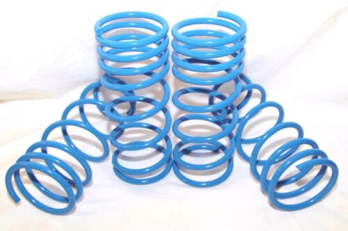 """BLUE Coil Lowering Spring Set 2/"""" Drop for 1984-1987 Toyota Corolla DLX//FX//LE//GST"""