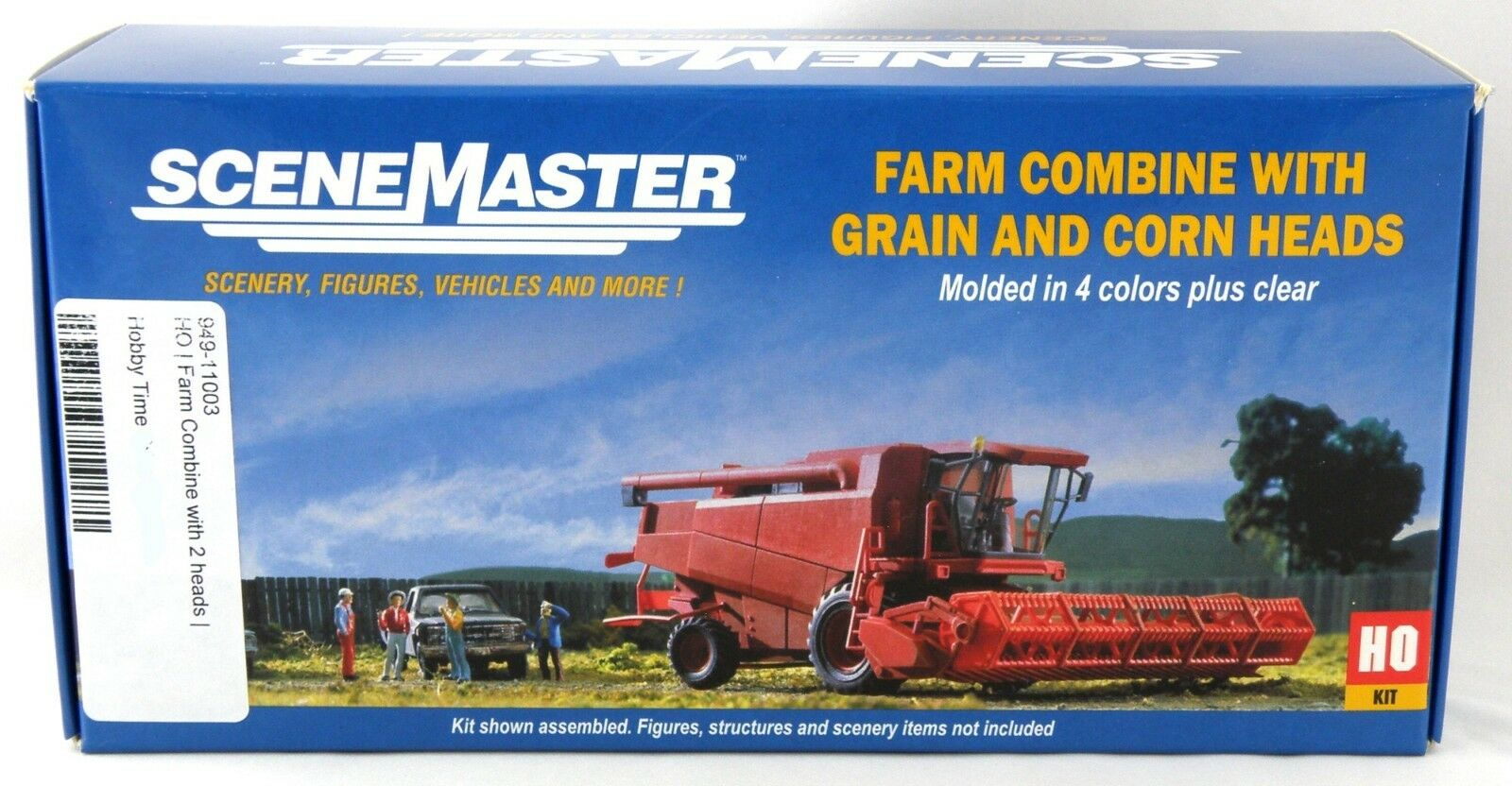 HO Scale Farm Combine w Grain & Corn Heads Kit - Walthers SceneMaster