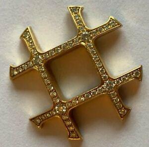 CARTIER-PASHA-Gitter-grid-KONVEX-18k-750-GOLD-BRILLANTBESATZ-23-5mm