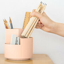 3 Slots 360 Degree Spinning Pencil Pen Desk Organizers Stationery Supplies