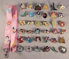 Princess Theme Starter Lanyard Set w/ 6 Disney Park Trading Pins ~ Brand NEW