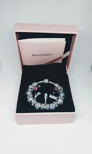 PANDORA-Moments-Pave-Silver-Bracelet-18cm-including-PANDORA-charms
