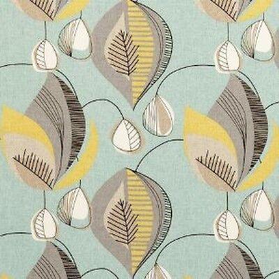 Clarke and Clarke Starlight Aqua Abstract Design Curtain Upholstery Craft Fabric