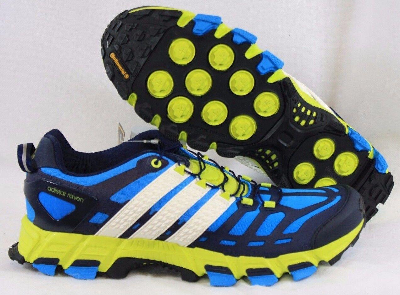 NEW Mens Sz 9 ADIDAS adistar Raven 3 B35802 Blue Yellow Trail Sneakers Shoes