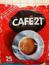 CAFE21 2 IN 1 WHITE ROAST COLOMBIAN ARABICA INSTANT COFFEE MIX x 25 STICKS