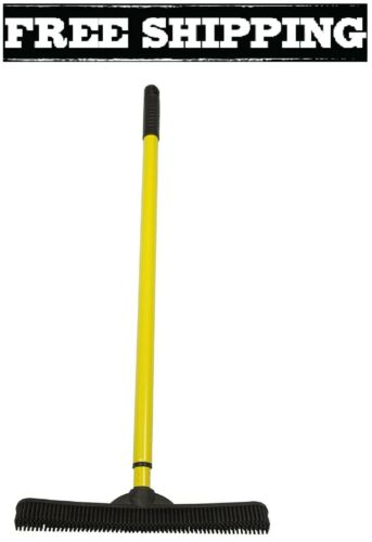 Sweepa Rubber Broom Evriholder FURemover Cat Dog Pet Hair Dust Carpet Rake New
