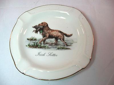 Irish Setter Hand Painted Vintage Ashtray Dish