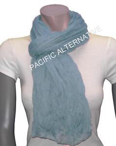 Foulard-Bleu-clair-grand-gros-110x170-femme-mixte-chale-echarpe-NEUF-scarf-schal