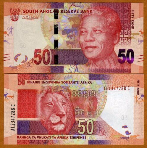 Pick 135 50 rand 2012 South Africa ND Lion UNC /> Mandela