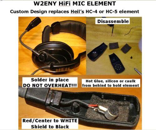 HC-HiFi electret upgrade for Heil Element HC-4 HC-5 for Icom 703 706 7000 7100