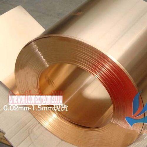 1pcs Copper Beryllium Alloy BeCu C17200 Foil Sheet Plate 0.8mm x 200mm x 200mm