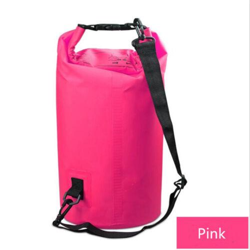 2L-30L PVC Waterproof Dry Bag Sack Ocean Pack Floating Boating Kayaking Camping