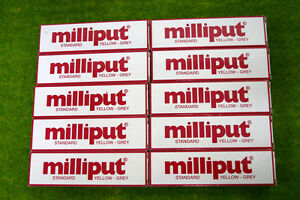 Milliput-10-packs-of-YELLOW-GREY-STANDARD-PUTTY-FILLER-Model-Tools