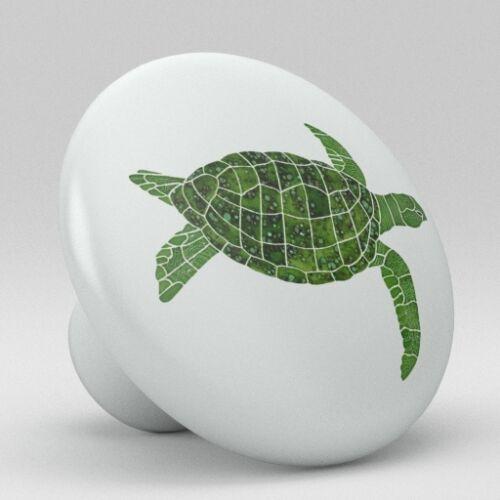 Ocean Sea Turtle Animal Ceramic Knobs Pulls Drawer Cabinet Vanity Closet 932