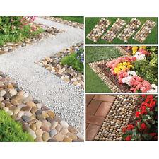 Item 2 Outdoor Stepping Stones 4p Walkway Decoration Garden Border Path Mat Yard Edging