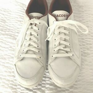 lacoste courtminimal mens leather sneakers walking casual