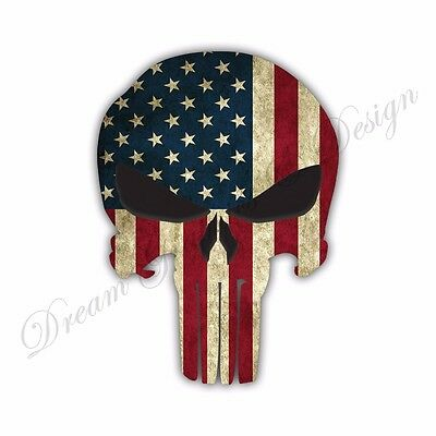 Punisher American Sniper Skull Car Bumper Vinyl Sticker Bomb Window Car Bumper