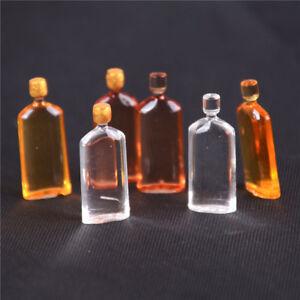 6X-Dollhouse-Miniature-Wine-Whisky-Bottles-Pub-Bar-Drinks-Accessory-Mini-Deco-D
