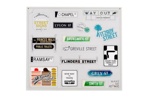 NEW Iconic street sign magnets Women/'s by Make Me Iconic