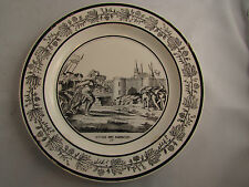 assiette 19eme faience choisy le roi ravage des normands 17 histoire de france