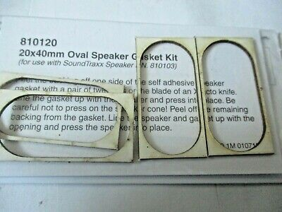 20x40mm Oval Model Train DCC Speaker Gasket Kit SoundTraxx #810120