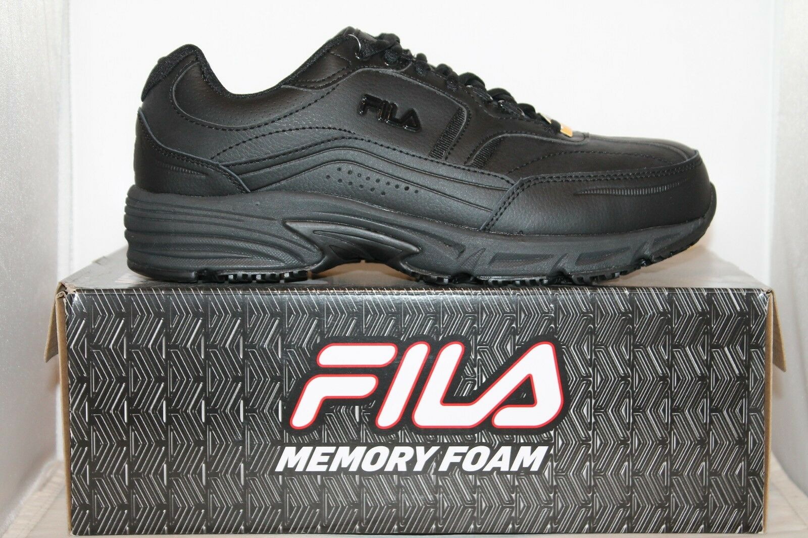 Mens Fila Memory Foam Workshift STEEL