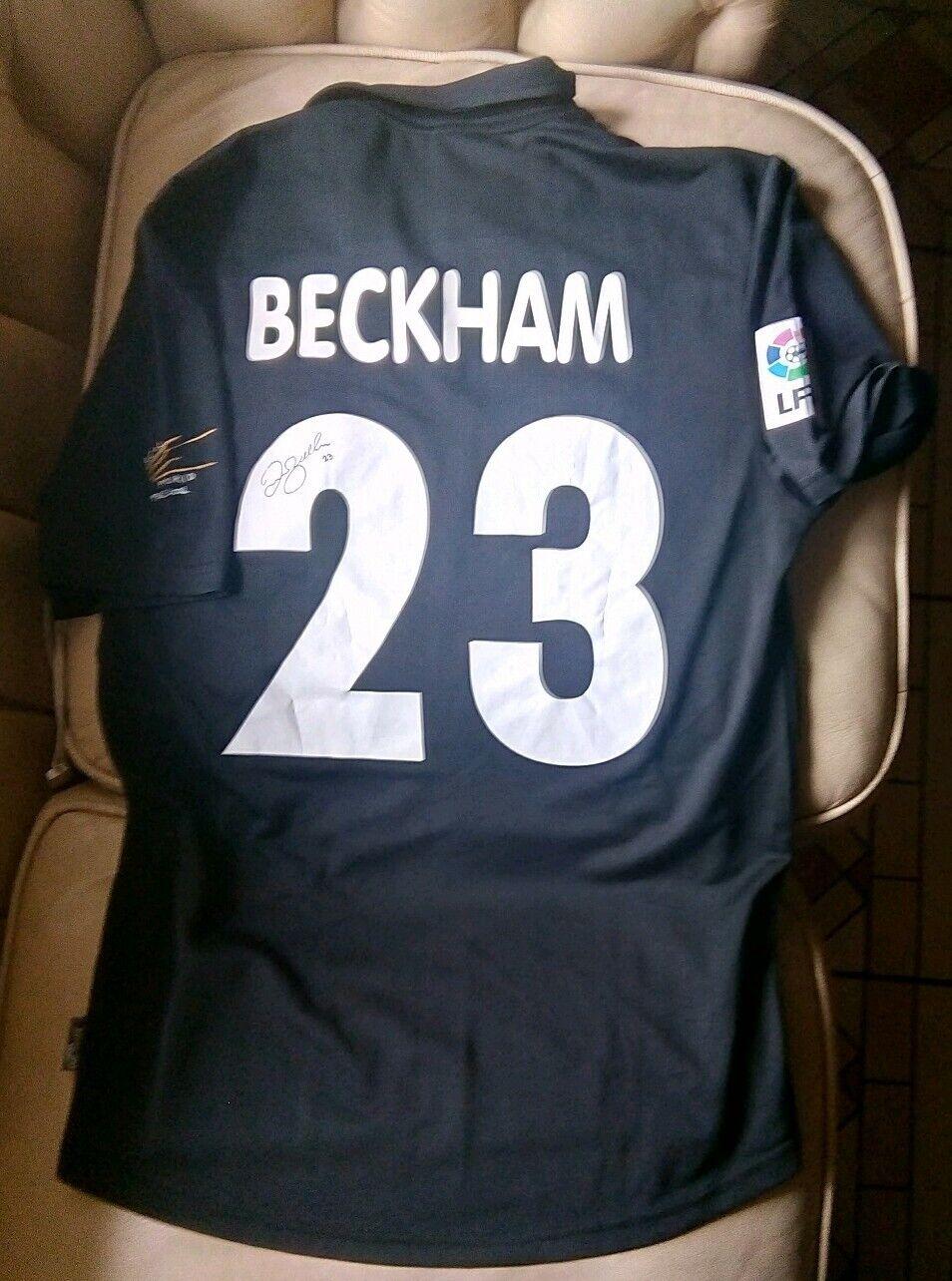 Soccer Shirt Real Madrid Signed David Beckham