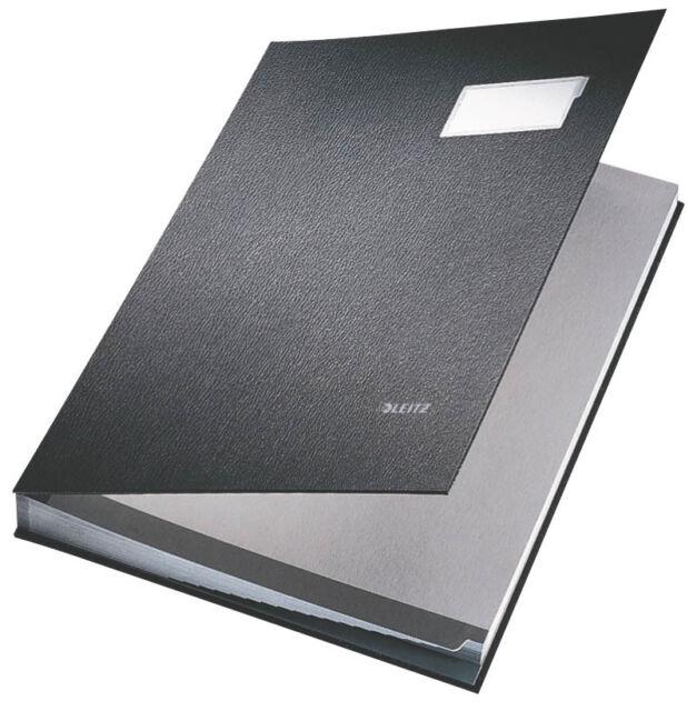 LEITZ Unterschriftenmappe, 20 Fächer, schwarz