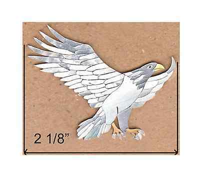 Gold /& Black Mother of Pearl PH84# Eagle With Snake Peghead Inlay Abalone