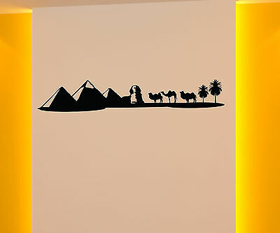 Wall Decal Skyline Egypt Pyramid Camel Landscape Anubis wall decal 1M060