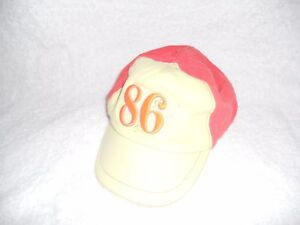 Child-039-s-Hat-Yellow-and-Orange-age-4-8-Years-velcro-back-fastening-039-86-039-design